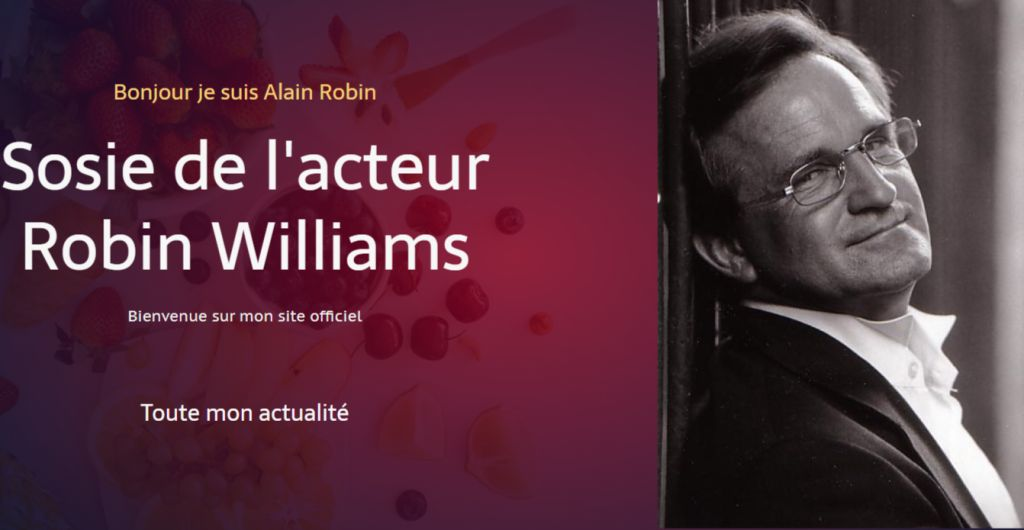 Alain Robin sosie de Robin Williams