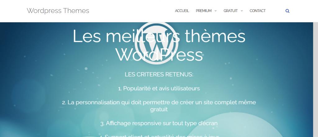 Read more about the article Les meilleurs thèmes WordPress